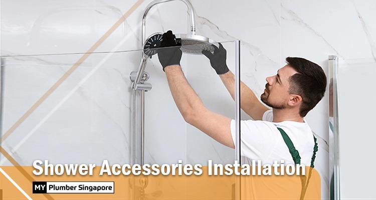 shower accessories instalation