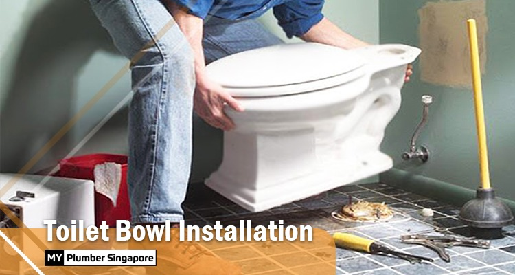 toilet bowl installation