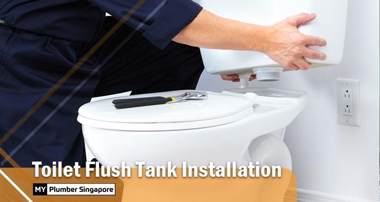 toilet flush tank installation