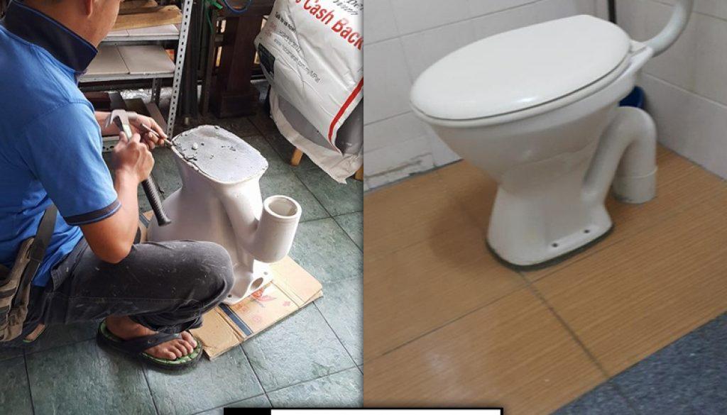 Install Toilet Bowl In Jalan Tenteram