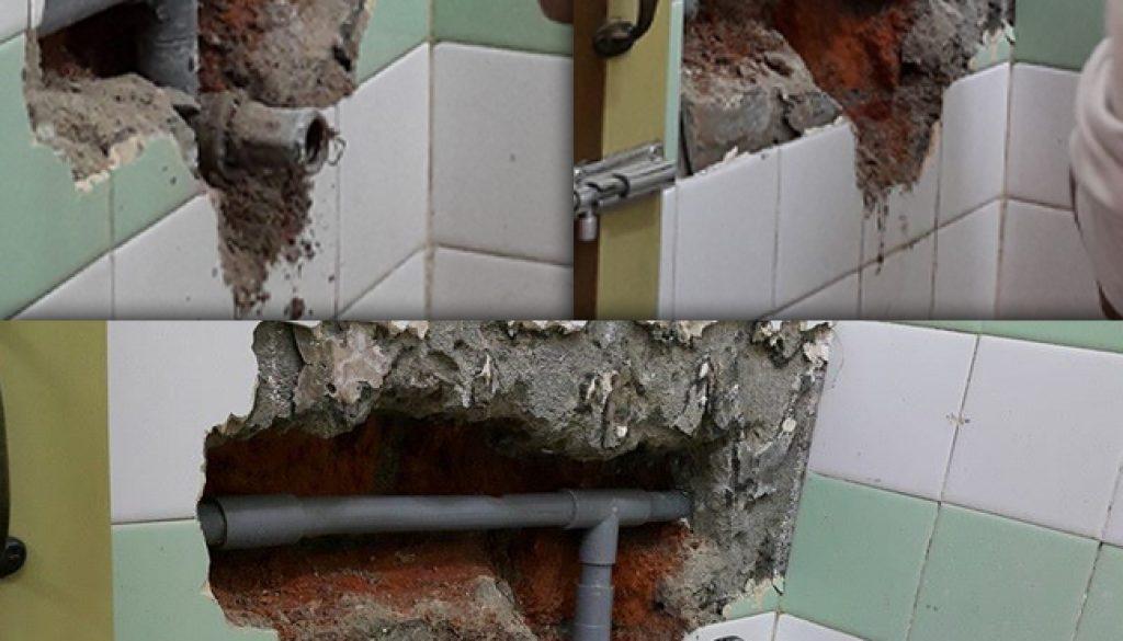 Repair broken pipe In Jelebu Road